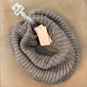 Knit Gray Infinity Scarf